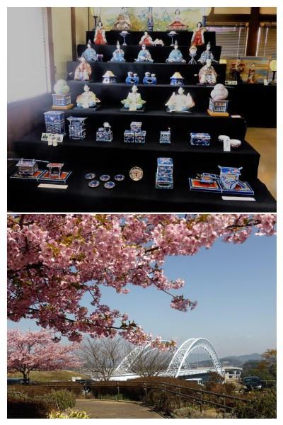 ポカポカ陽気に誘われ、有田雛の焼物祭り&新西海橋の河津桜を120%満喫の春♪