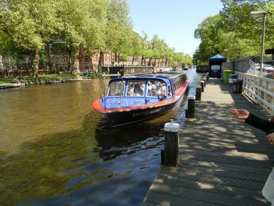 美しき花のオランダ・ベルギー5日間(②オランダ・アムステルダム街と運河クルーズ)