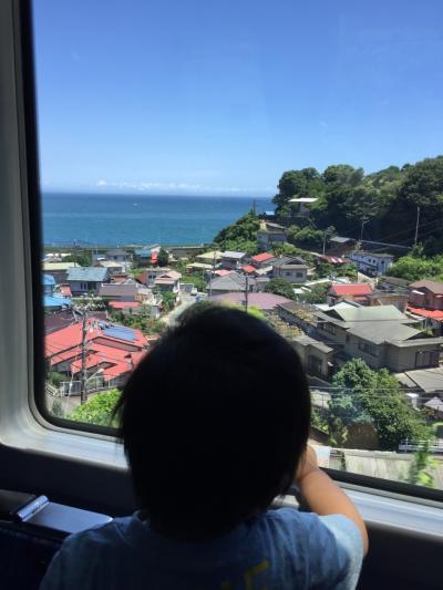 2歳0ヶ月子連れ スーパービュー踊り子号 伊豆稲取一泊旅行