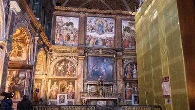 修復中のサン マウリッツオ教会