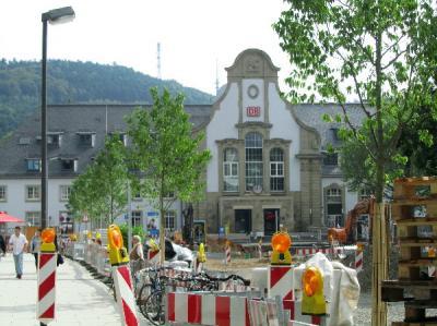 マールブルク駅前は工事中ななのでバス停は1つ先