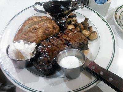 空港でステーキが食べたくなったら