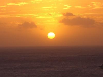 ラナイから見た夕日