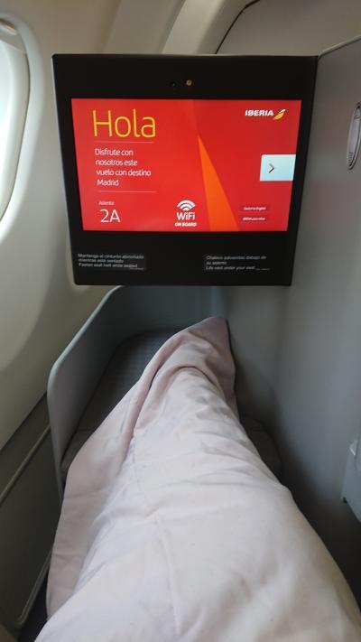 成田からマドリードの直行便 ビジネスクラス
