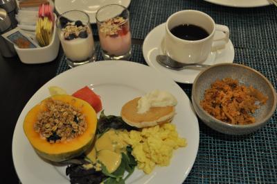 2階のLYCHEE(ライチ)での朝食、バイキングで種類も豊富