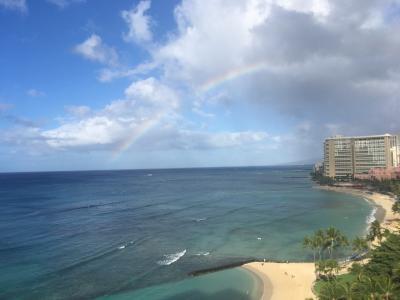 虹が見えたよー