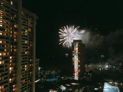 カリアタワーからの花火