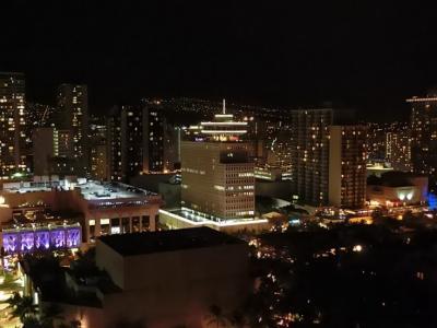 ラナイから見た「山側の夜景」