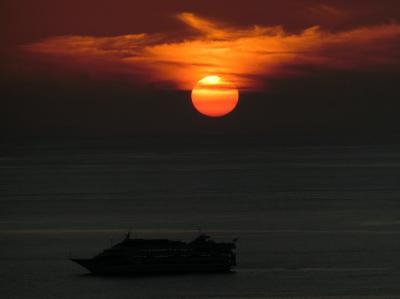 ラナイから見た「夕日」