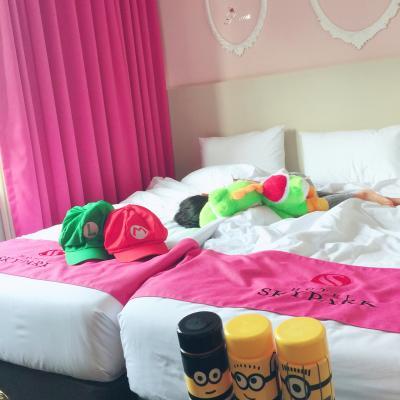 夏にチビと 泊ったのも ピンク(o^^o)
