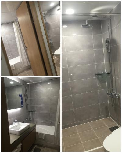 こちはら レジデンスタイプのバスルーム、シャワーと バスタブ