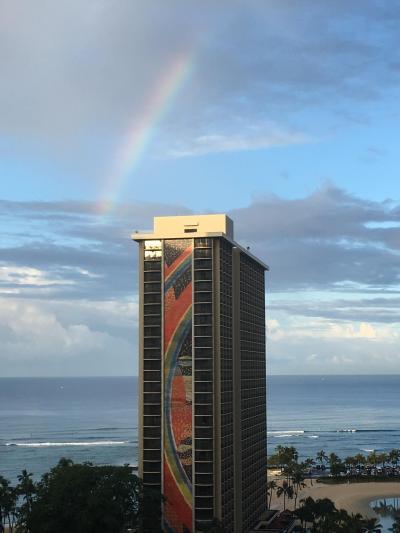 レインボータワーに虹が