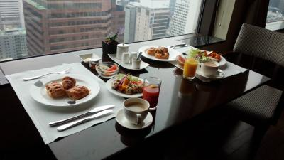 こちらも、ラウンジで朝食
