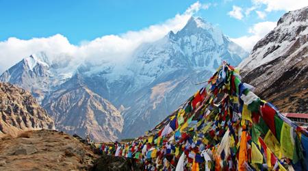 標高4000m超の ABCトレッキング−気温差50℃の旅−【神々の峯へ-1(ネパール入国・ポカラ散歩)】個人手配で 6泊7日ヒマラヤ 山歩き