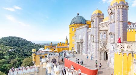 初めてのポルトガル その7 シントラ前編 ペーナ宮殿〜ムーアの城跡〜シントラ旧市街