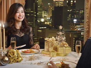 プライベートクリスマス  お部屋で二人きりのディナータイムを 写真