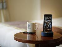 全客室に無料レンタルスマートフォン「handy」を導入
