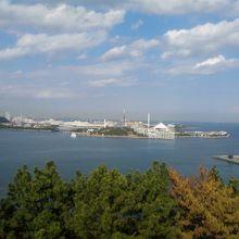 展望台から見た八景島
