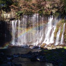 晴れた日は虹が美しい