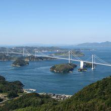 """""""来島海峡大橋""""と""""来島海峡""""を望む絶景ポイント"""