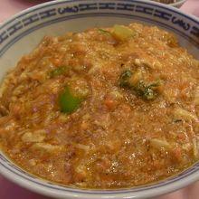 「蟹粉拌麺(蟹味噌かけ麺)」