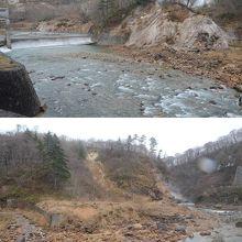 滝ノ上温泉 滝観荘の女湯からのワイルドな葛根田渓谷の眺め