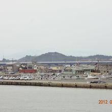 酒田港は波が穏やか