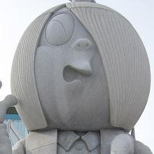 鬼太郎やねずみ男のブロンズ像がいっぱいあって面白い。