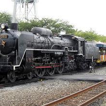 動く蒸気機関車を見るなら。