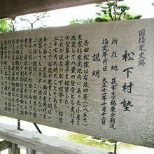 吉田松陰が開設した私塾