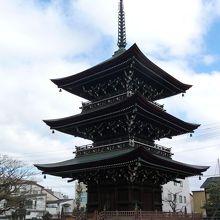 保存状態が良い三重の塔