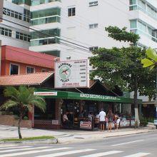 カンボリュー海岸のイタリアンレストラン(サンタカタリーナ州・ブラジル)