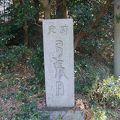 写真:琴弾八幡宮 弓張月の碑