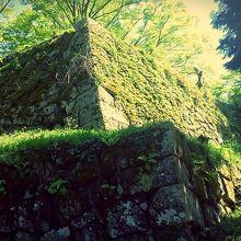 東門から見た天守台の城壁。