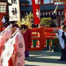 11月の稲成大祭の様子。