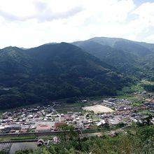 城跡から眼下に望む津和野の街です。