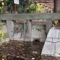 写真:神田上水取水口の石柱