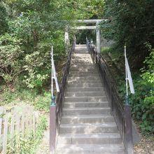 この階段を上った先に、頼朝の墓がる