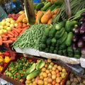 写真:野菜 果物市場