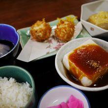 快適なサービスと豆腐料理が楽しめます。