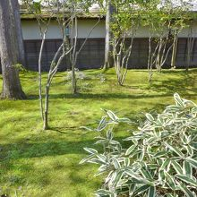 麟閣の庭園