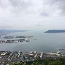 展望台からの眺め、曇り