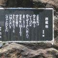 写真:山之口貘の「芭蕉布」の碑