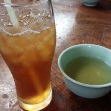 クーポンサービスのアイス烏龍茶