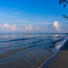 人も少なくビーチが綺麗