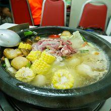 あっさり味のスープで美味しい
