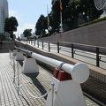 写真:日本丸のメインマスト用トップゲルンマスト