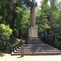 写真:ローマ市寄贈の碑