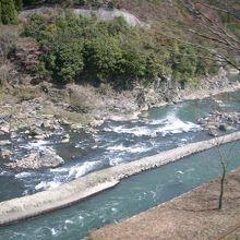 大堰川の上流