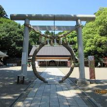 茅の輪と常盤神社